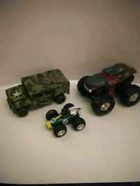 3 toy vehicle's