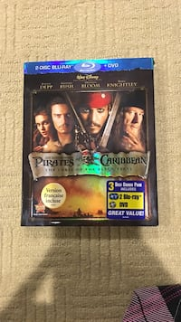 Pirate of the Caribbean 2-disc Blu-Ray + DVD case Surrey, V3S 1S3