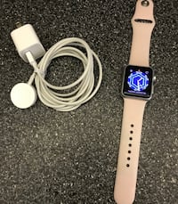 PRICE FIRM Apple Watch 38mm Silver case with PINK band Miami Beach, 33139
