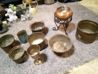 brass cups and bowls and a pole Medway, 45341