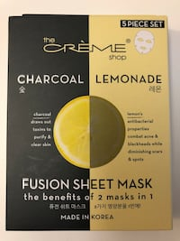 The Creme Shop Charcoal Lemonade Face Mask Acne Skincare Davis, 95618