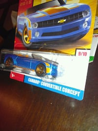 blue and yellow Chevrolet Camaro convertible concept die-cast model pack San Jose, 95117