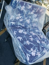 blue and white floral foldable mattress Bellflower, 90706