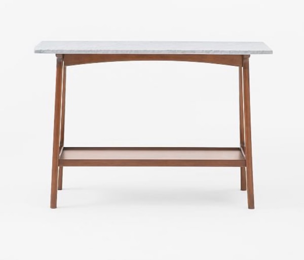 quality design 6b0ca 265fd West Elm Marble Top Console Table