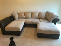 brown and black sectional couch Berryville, 22611