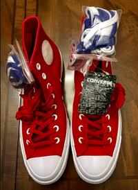 red-and-white Nike Air Force 1 shoes Ranson, 25438