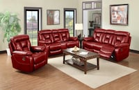 Jasper Vibrant Red Theater Motion Reclining Sofa and Love Seat Charlotte, 28216