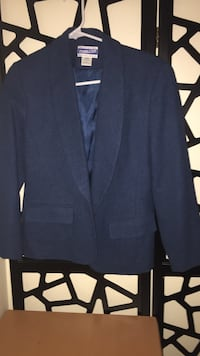 Black shawl-lapel suit jacket with flap pockets Falls Church, 22044