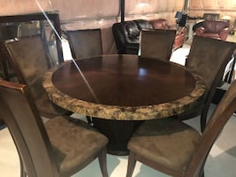 Ashley's wooden dining table