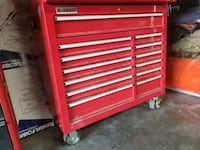 "US general 44"" red 13 drawer rolling tool cabinet  Los Angeles, 90065"