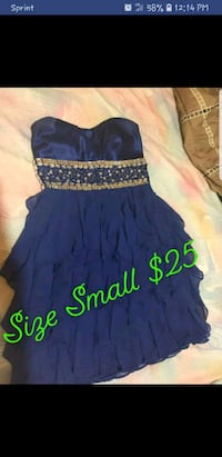 blue and black floral sleeveless dress Fort Smith, 72903