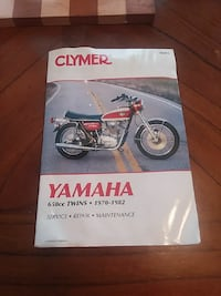 Clymer Yamaha 6.50cc Twins 1970-1982 Service Repair Maintenance book