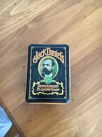 Vintage Jack Daniels Tin with 2 sets Jack Daniels playing cards. No missing cards. Over 30 years old Cochrane, T4C 1K6