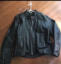Men's Black Leather Riding Jacket Southborough, 01772