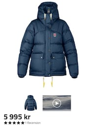 Svart zip-up bubblajacka Tumba, 147 43