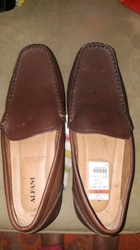 pair of brown leather loafers St. Louis