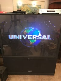 "61"" Hitachi rear projection TV w/ DVD player"