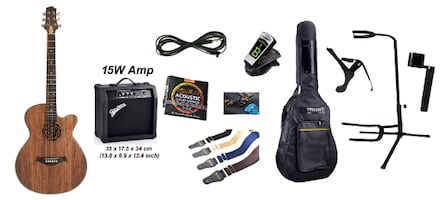 Acoustic Electric Guitar with 15W Amp and package