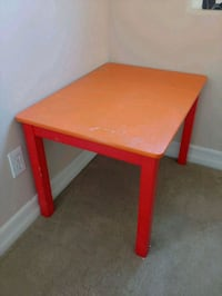 square red wooden side table Irvine, 92603