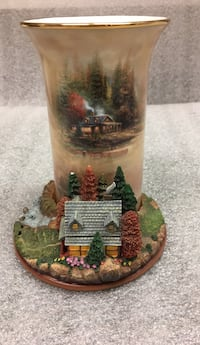 brown and green ceramic house miniature West Islip, 11795