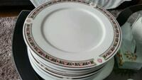 white and red ceramic plate Barrie, L4M 5C4