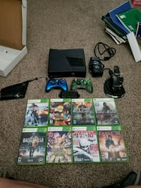 black Xbox 360 console with controller and game ca Stockton, 95205