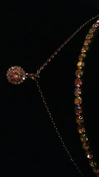 silver and red gemstone necklace Laguna Woods, 92637