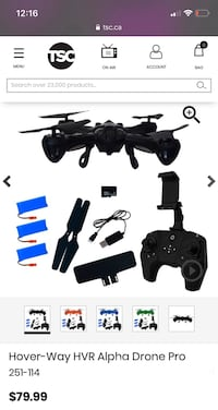 """Drone"" for sale (Hover-Way HVR Alpha Drone)"