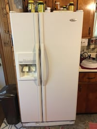 White side-by-side refrigerator with dispenser Windber, 15963