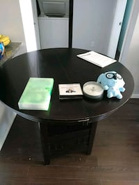 round black wooden coffee table Coquitlam, V3K 6V3