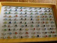 New. 100 count cat eye rings beautiful colors $75  Middletown, 17057