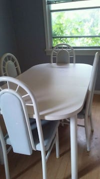 white dining table with chairs Edmonton, T5X 6C3