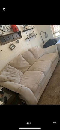 Off white/cream couch and love seat