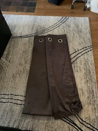 Full length brown curtains