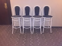four white metal framed chairs Toronto, M4N 1X8