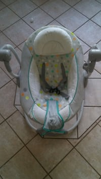 baby's gray and white baby bouncer Edmonton, T5H 3X2