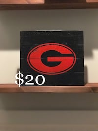 UGA painted canvas Oxford, 30054
