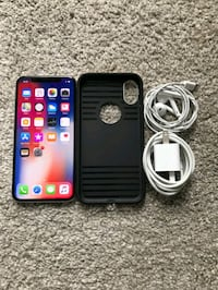 black iPhone 7 with charger Washington