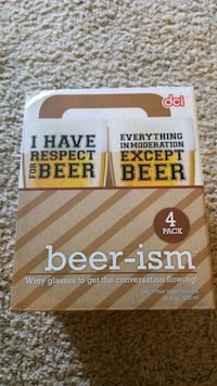 NEW DCI Beer-ism Beer 4pk 16.9oz Glasses  McMinnville, 97128