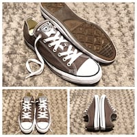 Converse All Stars low-Top paid $60 Size 9.5 men size 11.5 women's. Color dark grey. Like new excellent condition!
