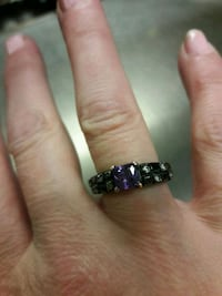 silver and purple gemstone ring Hollins, 24019