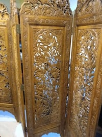 Antique folding 4-panel screen divider 22 km