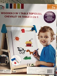 Wooden 3 in 1 table top easel play draw NEW unopened Montréal, H3A 2A4