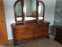 Solid wood pristine, bedside tables available as well.  $100 for pair. OTTAWA