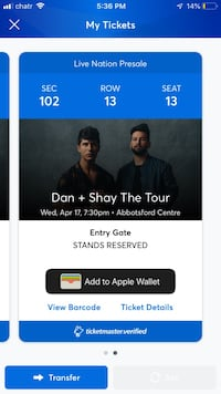 Dan and shay tonight null, V3Y