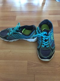 pair of blue-and-black running shoes Nanaimo, V9R 4E6