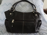Tignanello Black Pebbled Leather Organizer Bag SOUTHBEND