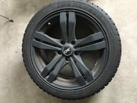 Winter tires and black rims 17inc 225-45r17 Vaughan, L4H 0Y1