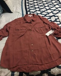 red button-up long-sleeved shirt West Kendall, 33193