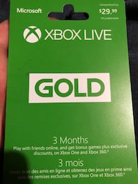 3 months Xbox love gold  Spruce Grove, T7X 2G5